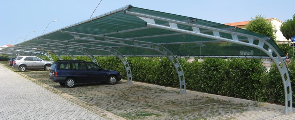 Finest links u tecnoserre snc with tettoie x auto for Progettazione di garage per auto