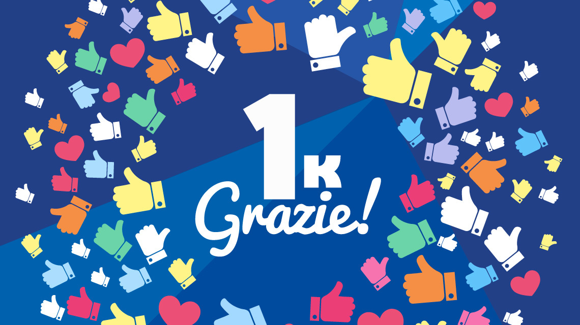 1000 Mi Piace su Facebook !